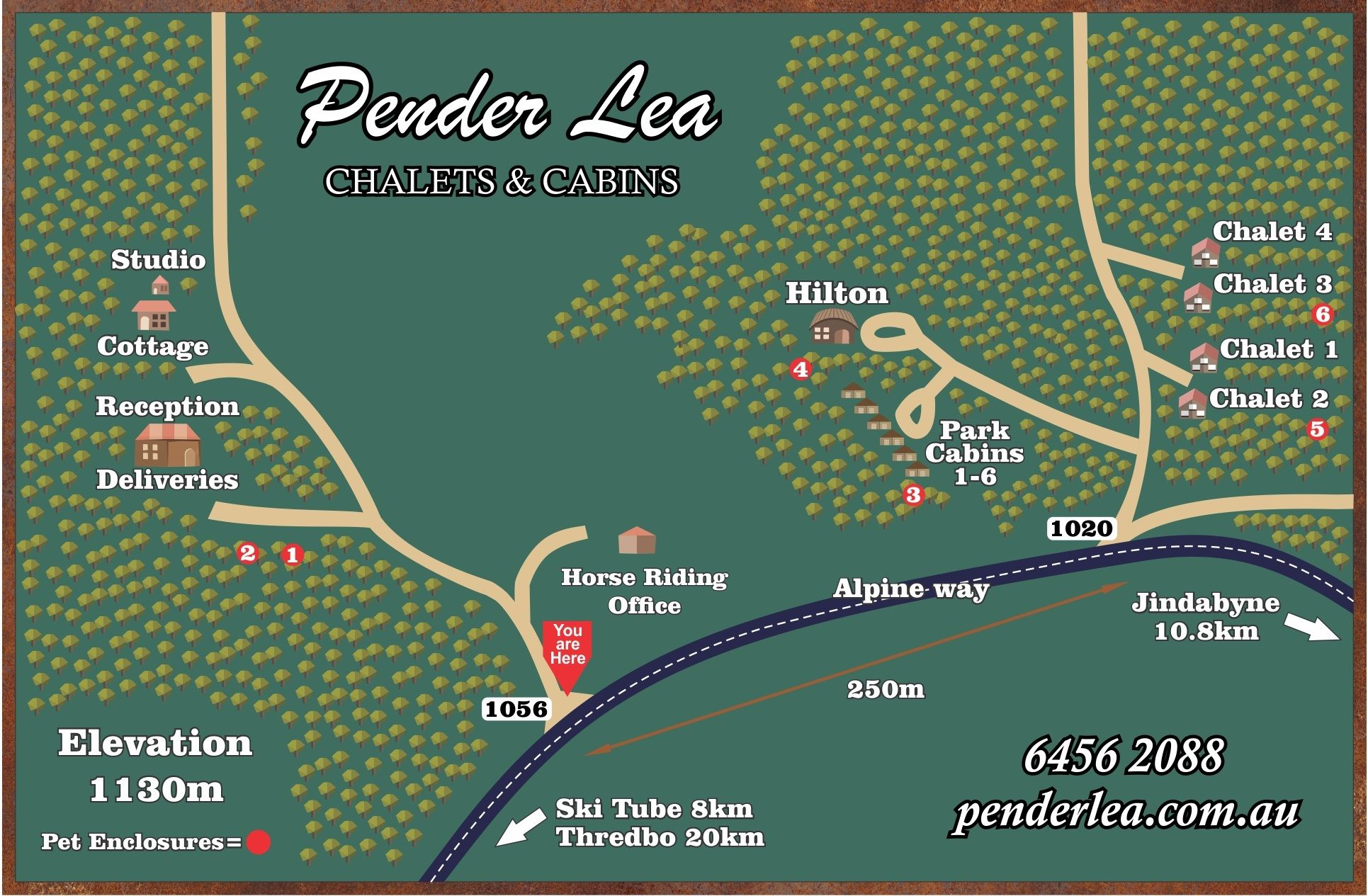 Pender Lea Map